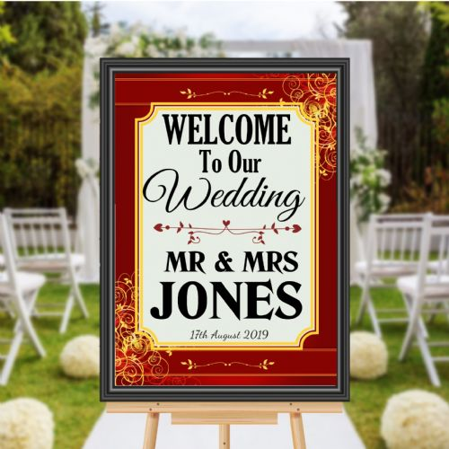 Personalised Welcome to our Wedding Sign Poster Banner - Print N172